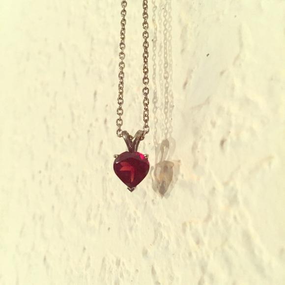 Blue nile jewelry garnet heart pendant in sterling silver 8mm garnet heart pendant in sterling silver 8mm aloadofball Gallery